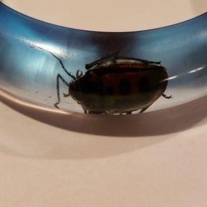 none Jewelry - Lucite bug bangle